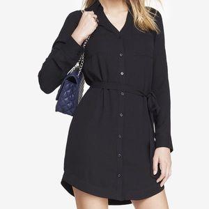 Express Black The Portofino Shirt Dress, M
